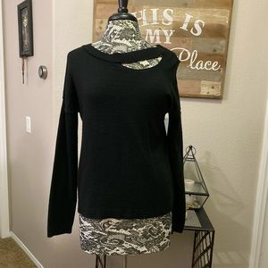 Maurices Cold Shoulder Distressed Style Sweater